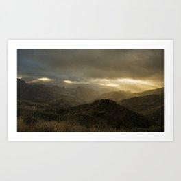 Canaria montana vista Art Print
