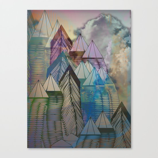 Triangular Endings on the Top Above the Clouds / Urban 04-11-16 Canvas Print