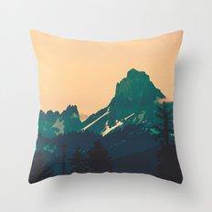 Cascade Mountains Sunset Throw Pillow