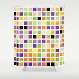 City Blocks - Eggplant #490 Shower Curtain