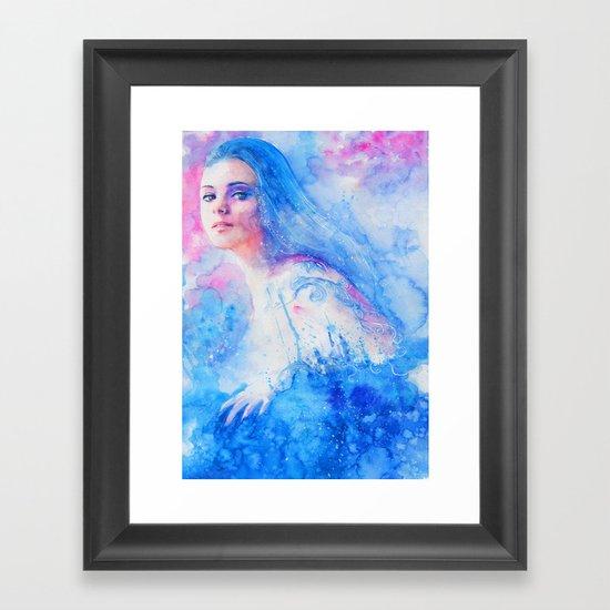 Right from the stars Framed Art Print