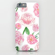 Watercolor Peonies iPhone 6s Slim Case