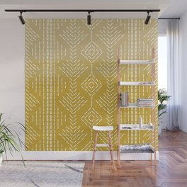Yellow Ombre needlepoint Wall Mural