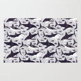 Sharks On Pale Grey Rug