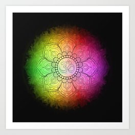 Colours of Om Art Print