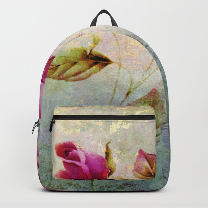 rosebush and textures Backpack