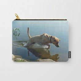 Labrador Retriever Leaps for Fish Carry-All Pouch