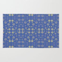 Dots, dots and more dots - blue & yellow Rug