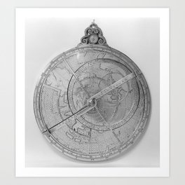 Astrolabe, showing front of mechanism Art Print
