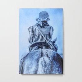 girl riding horse Metal Print
