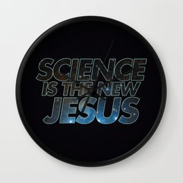 Science is the New Jesus Wall Clock