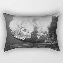 Hindenburg in flames Rectangular Pillow