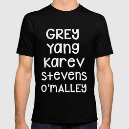 Grey Karev Yang Stevens O'malley Greys Anatomy T-shirt