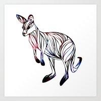 Wallaby Art Print