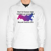 bisexual Hoodies featuring Boycott Sochi - Bisexual Flag Gradient by Boycott Sochi