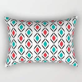 Retro Fun Pattern Rectangular Pillow