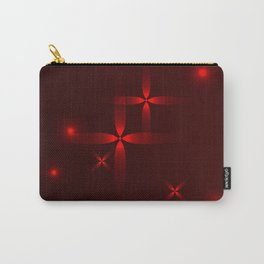 Burgundy background in red stars. Carry-All Pouch