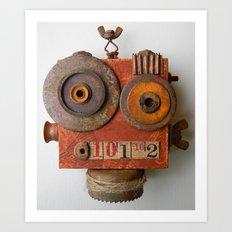 Larry the Robot Art Print