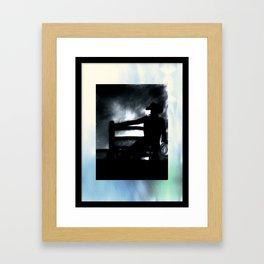 Cowboy In The Misty Night Framed Art Print