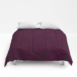 Pink Floral Velvet Comforters