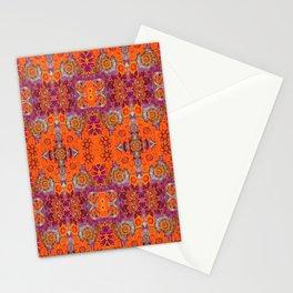 Boho Hippie Garden Pattern Stationery Cards