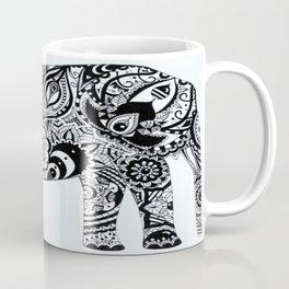 Mandala Elephant black and white Coffee Mug