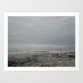 Windy in Torremolinos Art Print