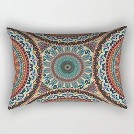 Colorful abstract ethnic floral mandala pattern Rectangular Pillow