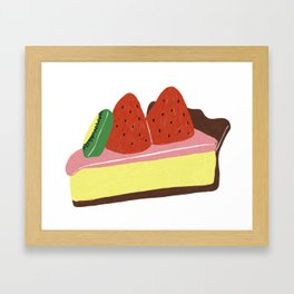 Kiwi Strawberry Cheesecake Framed Art Print