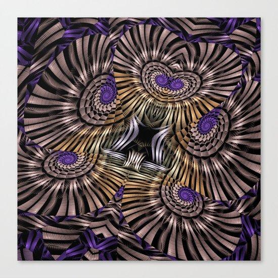 Metallic spirals, shapes and textures. Canvas Print