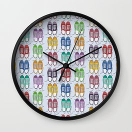 colorful sneakers Wall Clock