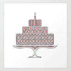 Patterned Cake Art Print