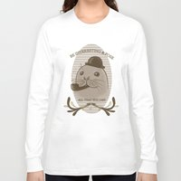 seal Long Sleeve T-shirts featuring Smart seal  by Anaïs Gálvez