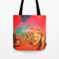 sci fi Tote Bags featuring Lo-Fi Sci-Fi by potpourrri