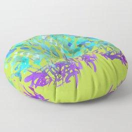 Floral Watercolor Craze Floor Pillow