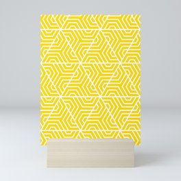Sizzling Sunrise - yellow - Geometric Seamless Triangles Pattern Mini Art Print