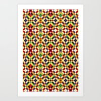 pixel Art Prints featuring Pixel by Goncalo Viana