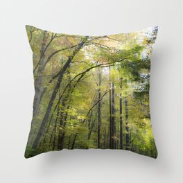 Trees in October Throw Pillow