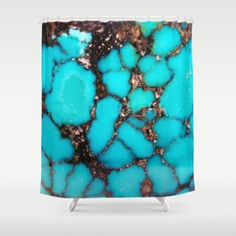 Macro Turquoise Shower Curtain