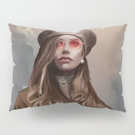 Fashion Girl Portrait Pillow Sham