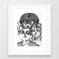 christian schloe Framed Art Prints featuring christian by Valeria Pomidoro