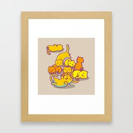 cats ! Framed Art Print