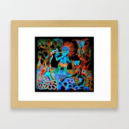 Forest Walk (digitally remixed) Framed Art Print
