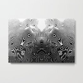 Line monster Metal Print