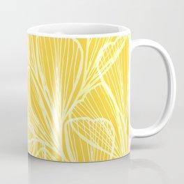 Golden Yellow Flora Coffee Mug