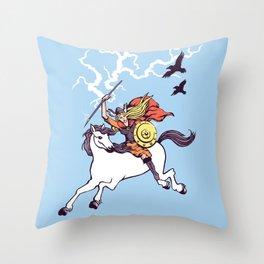 Shieldmaiden of Asgard Throw Pillow