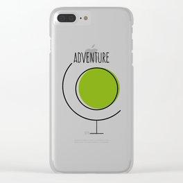 Adventure Earth Globe Clear iPhone Case