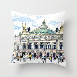 Palais Garnier, Paris Throw Pillow