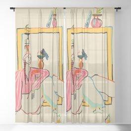HOLIDAYS AT HOME Sheer Curtain