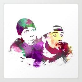 Jay and Silent Bob (Clerks) Art Print
